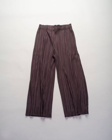 pleats, please, issey, miyake, pants, ankle, pp08, jf503, charcoal, crop, women's, noodle stories, trousers, pleated, poly, japan,