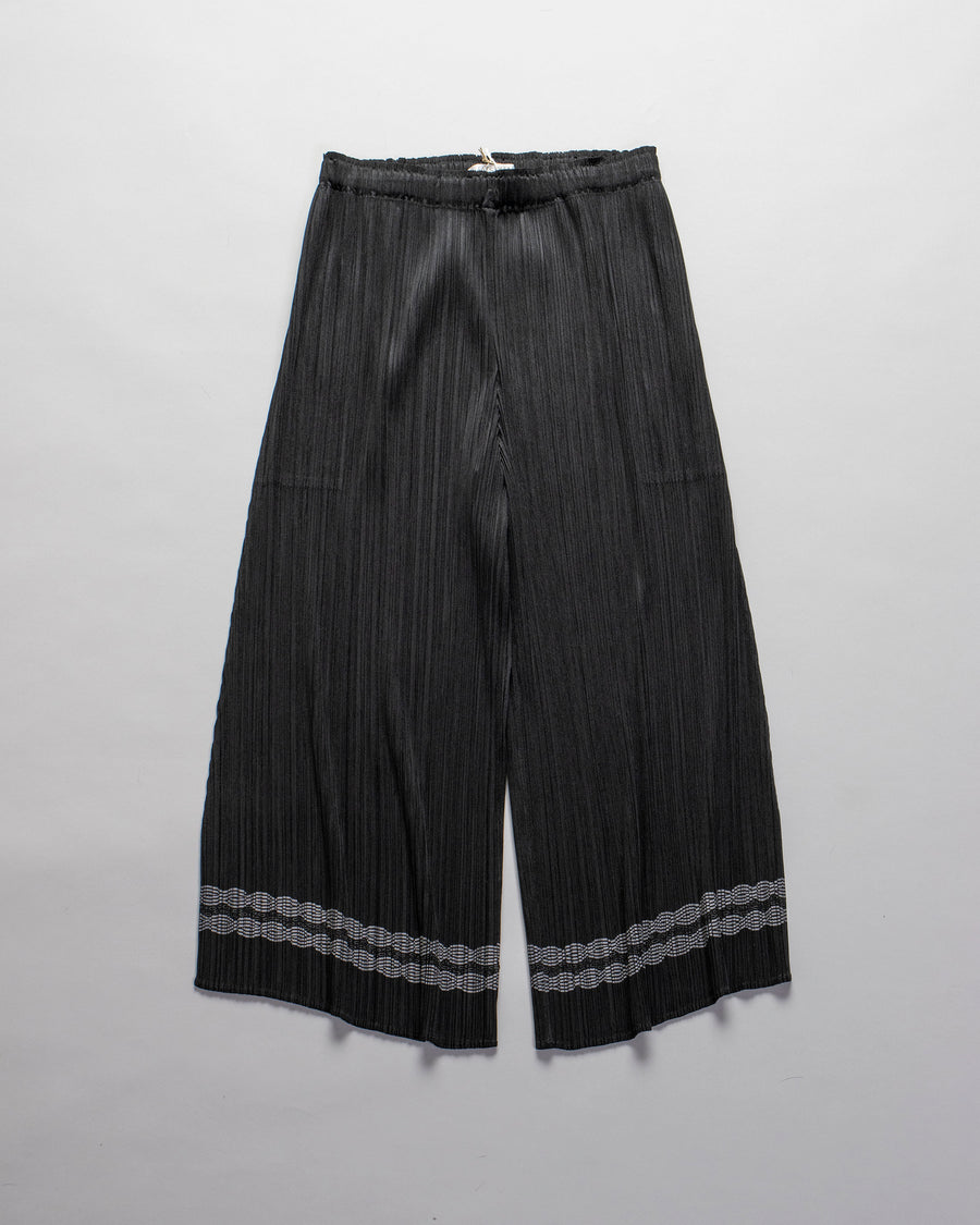 PLEATS, PLEASE, ISSEY, MIYAKE, PPO8-JF524, PPO8JF524, PLEATED, SWING, STITCH, PANTS, BLACK,