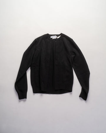 RF-N501 comme des garcons - cdg cdg - buttonless cardigan in black wool open women's noodle stories RF-N501 comme des garcons - cdg cdg - buttonless cardigan in black wool open women's noodle stories