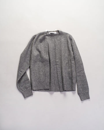 RF-N501 comme des garcons - cdg cdg - buttonless cardigan in grey wool open women's noodle stories