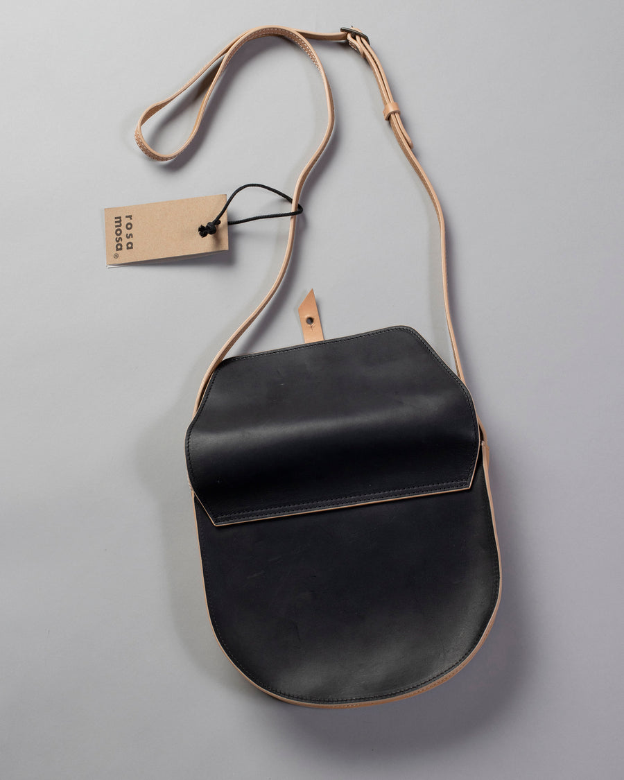 ROSA, MOSA, BAG, PURSE, BORSA, SMALL, S, CROSS, BODY, PURSE, LEATHER, NATURAL, BLACK,