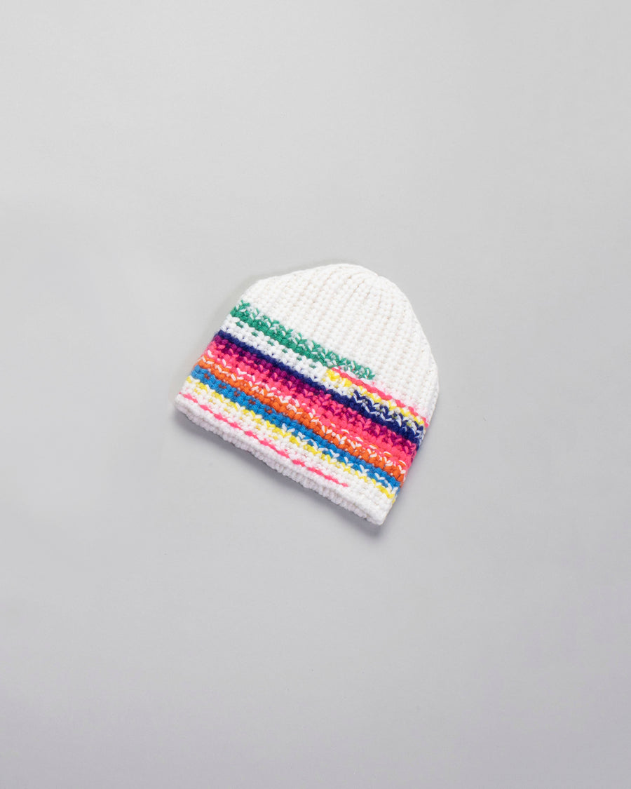 WOMMELSDORFF, HAT, CAMILLE, CASHMERE, BEANIE, CAP, SWEATER, KNIT, RIB, STRIPE, SPACEDYE, MULTI, COLOR, YARN, MIX, RAINBOW, SALT,