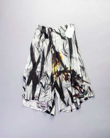 asymmetric printed pants
