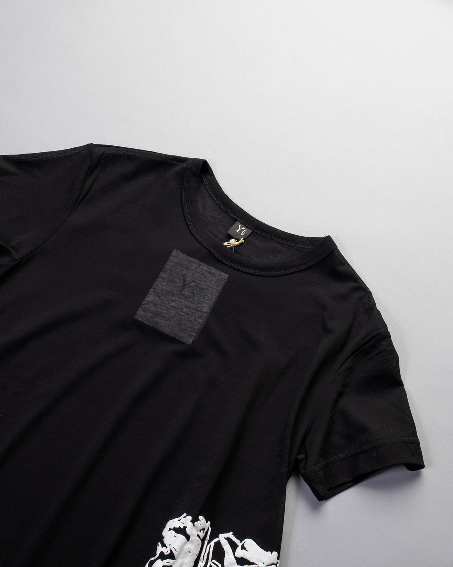 embroidered unbalance t-shirt