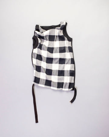 draped gingham top
