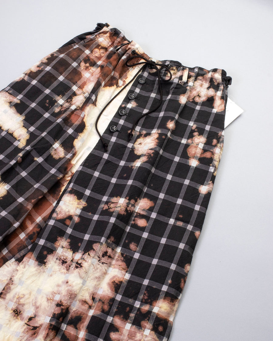 bleach dyed button fly sarouel pant