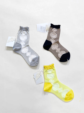 lace stripe socks
