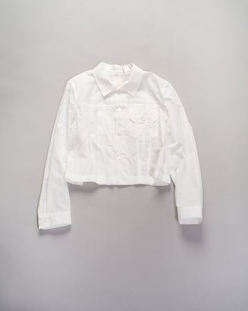 asymmetric shirt jacket