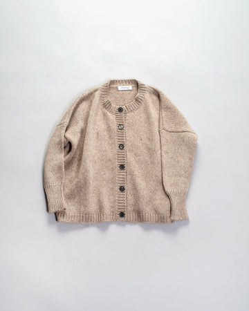 bergfabel hand-knit cardigan in natural | noodle stories