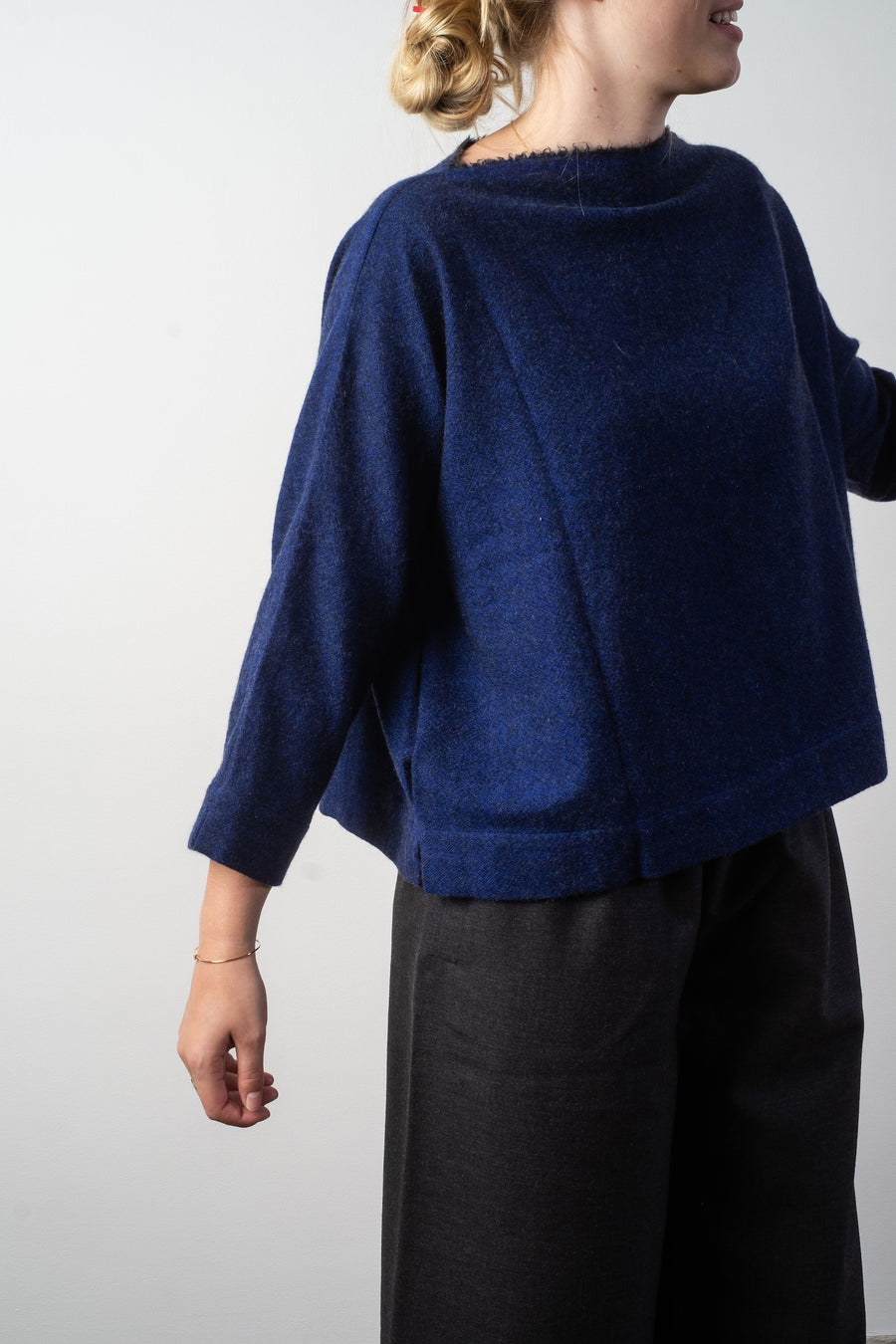 selvage edge cashmere top