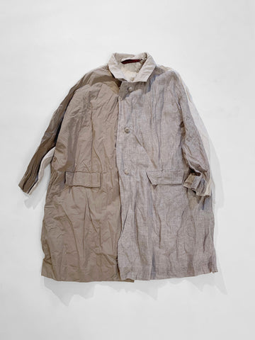 daniela gregis patchwork coat linen cotton natural noodle stories