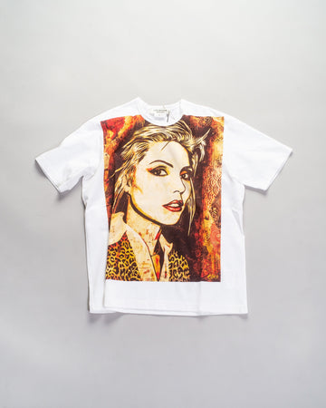 junya watanabe women's blondie tee in white cotton printed debbie harry JF-T006-WHT-S noodle stories