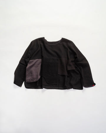daniela gregis layered fabric top black noodle stories