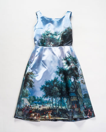 landscape printed dress