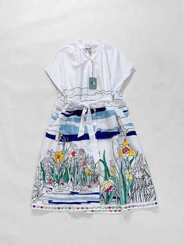 embroidered coloriage dress