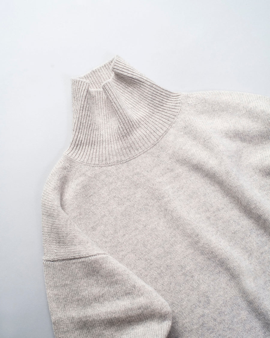 sofie, d'hoore, sweater, noodle stories, women, women's, moore, cashmere, turtleneck, silver, melange, grey, heather,