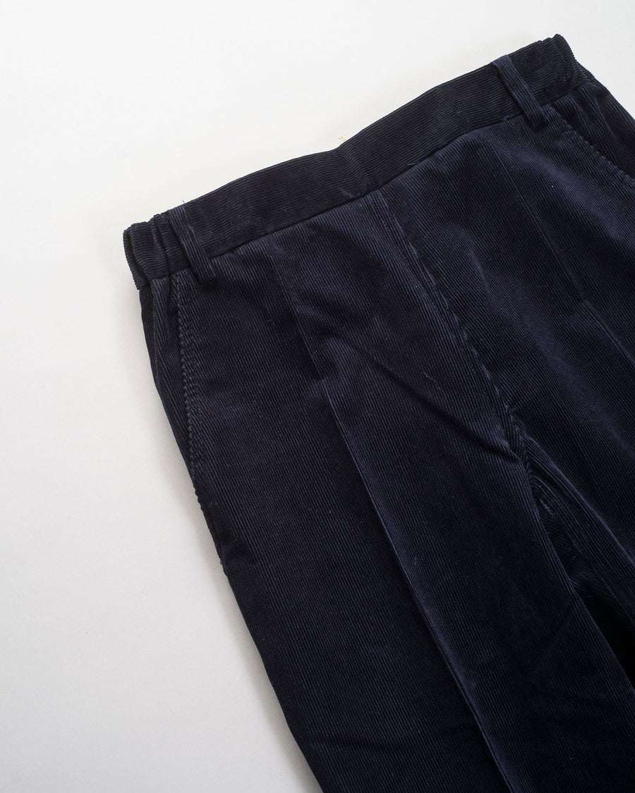 sofie, d'hoore, pants, noodle stories, women, women's, picabia, covin, dark, navy, corduroy, elastic, slim, straight, crop, flare, trouser,