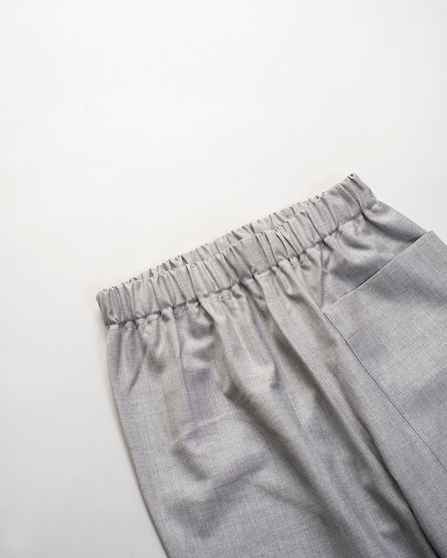 sofie, d'hoore, pants, punch, dark, siver, melange, heather, grey, elastic, patch, pocket, drawstring, noodle stories, women, women's