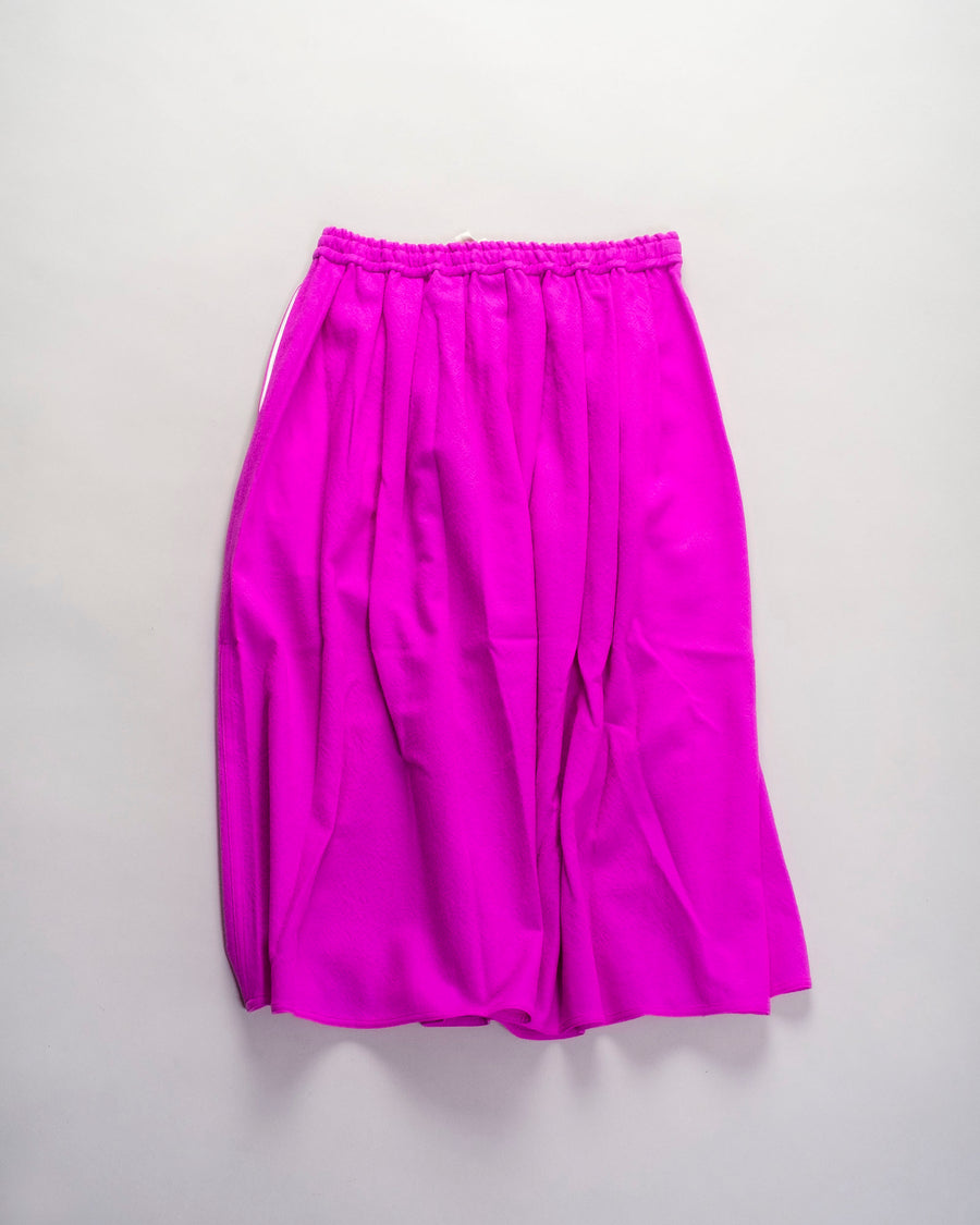 sofie, d'hoore, skirt, noodle stories, women, women's, pleated, gathered, drawstring, elasticated, midi, scully, pink, cyclamen, fuchsia, purple, wool