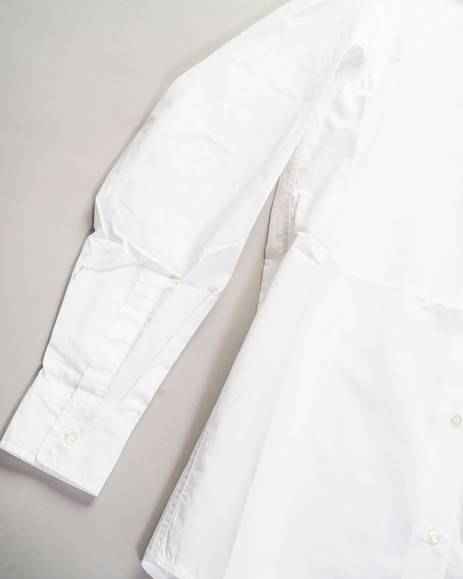 sofie, d'hoore, noodle stories, women, women's, borromini, shirt, top, collar, button, white, cotton, poplin,