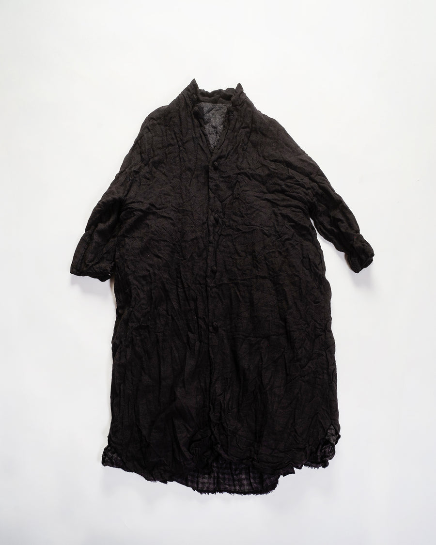 washed wool reversible coat dress