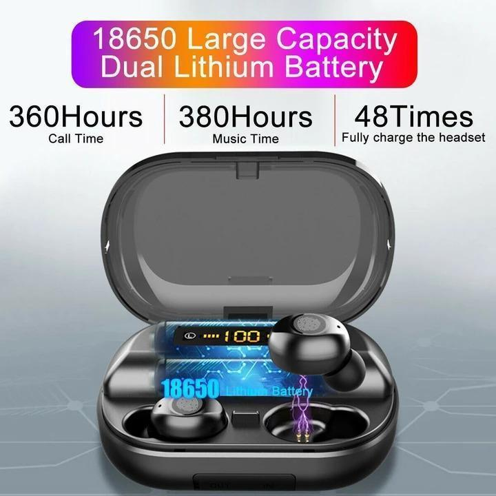 HiFi Waterproof Touch Control Headset - Bluetooth 5.0 Earphones Wireless Earbuds With Power Box for Swimmers Sports/Games - 5econds.co