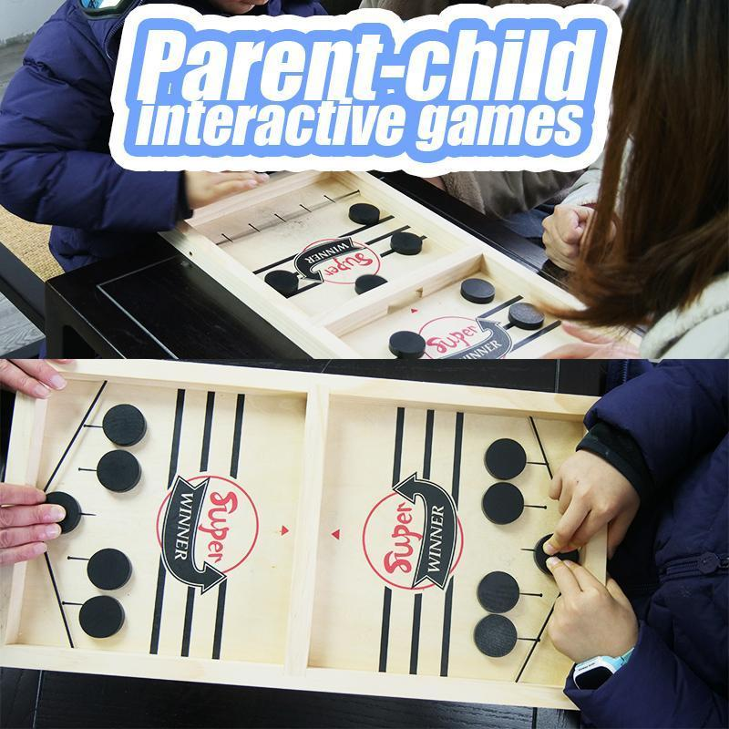 Table Hockey Game for Adult & Child - Sling Puck Toy Parent Children Desktop Battle Table for Kids Friends Gathering Gifts - 5econds.co