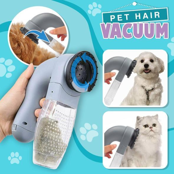 Pet Hair Vacuum - Electric Portable Pet Dog Cat Hair Cleaning Machine Shed Pal Grooming Clean Hair Combs Remover Pet Tool