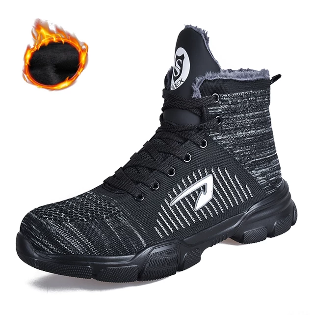 BATTLE-X Indestructible Boots - Outdoor Steel Toe Protective Anti Smashing Work Shoes Men Puncture Proof Sneakers