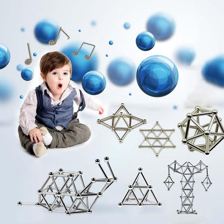 DIY Magnetic Sticks And Balls - 40% OFF TODAY !! - Designer Building Blocks Construction Set Magnet Toys Children Adults - 5econds.co