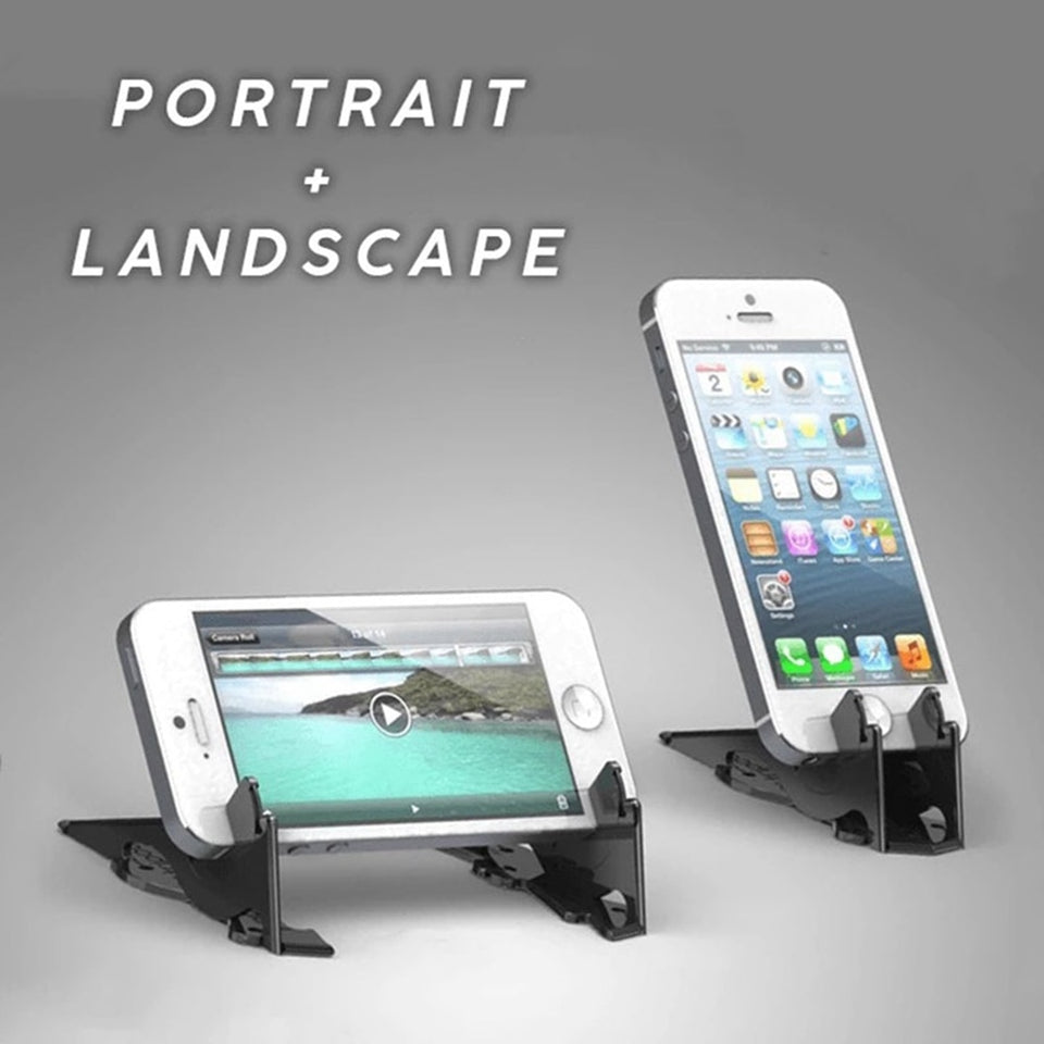 Universal Pocket Tripod - Portable Card Type Stand Foldable Phone Holder For iPhone Adjustable Desk Bracket Pocket - 5econds.co