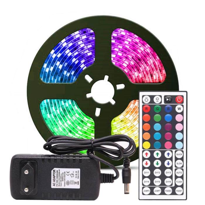 LED LIGHT STRIP - RGB Tape SMD 2835 DC12V 5m 10m diode Ribbon Flexible - 5econds.co