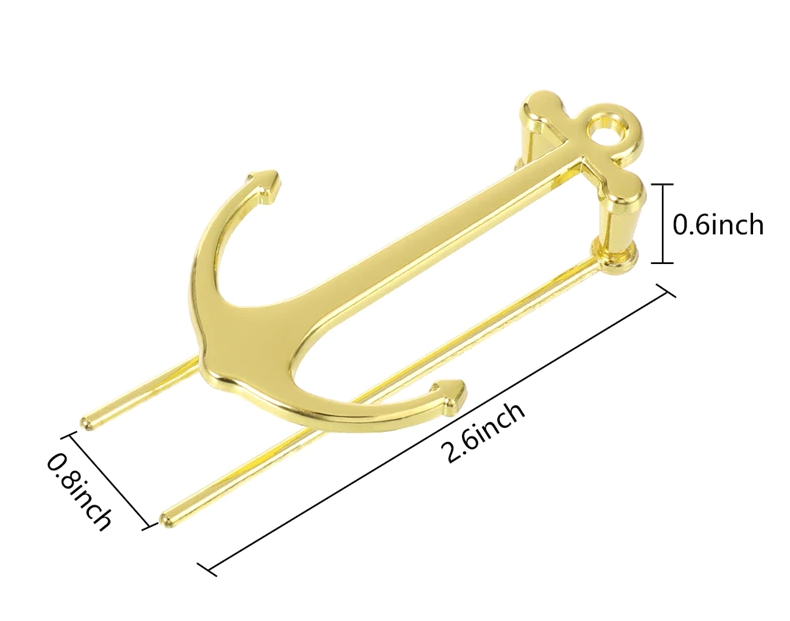 Anchor Bookmark - Creative Metal Page Holder for Students Teachers Graduation Gifts School Office Supplies