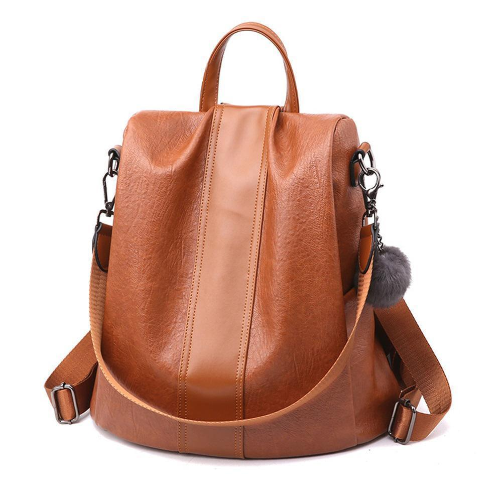 PREMIUM™ Premium Leather Three Way Anti-Thief Women's Backpack - 5econds.co