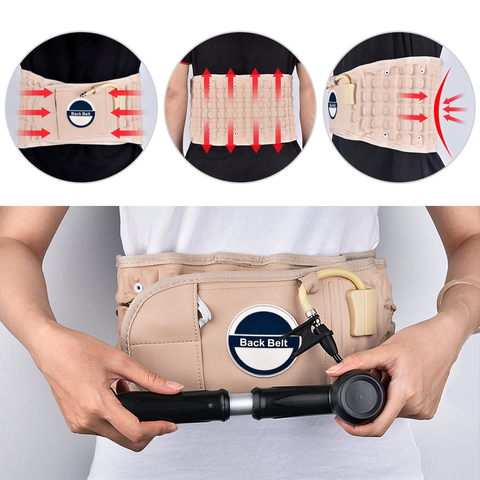 BackBelt™ Traction & Decompression therapy belt - Brace Support Care Relief Waist Backache Heat Pain Massager Bone Health Care - 5econds.co