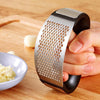 New Garlic Press - Stainless Steel Manual Garlic Mincer Slicer With Handle Garlic Crusher Squeezer Vegetable Tool Kitchen Gadgets