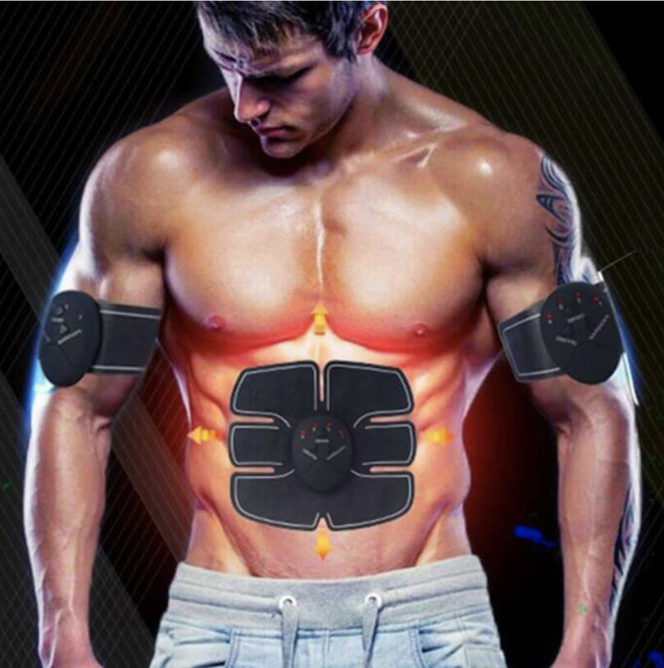 BodyFit™ Abs Muscle Toning Stimulator Electric 6 Pack EMS Fitness Trainer Belt Machine - 5econds.co