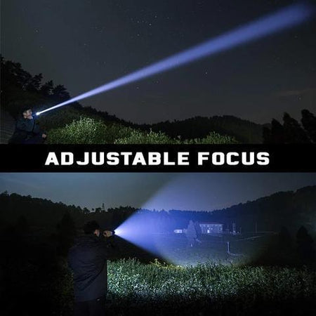 Navy Dedicated Flashlight High Lumens Super Bright Waterproof (Limited Stock) - USB Rechargeable Power Display Powerful Torch Handheld Light - 5econds.co