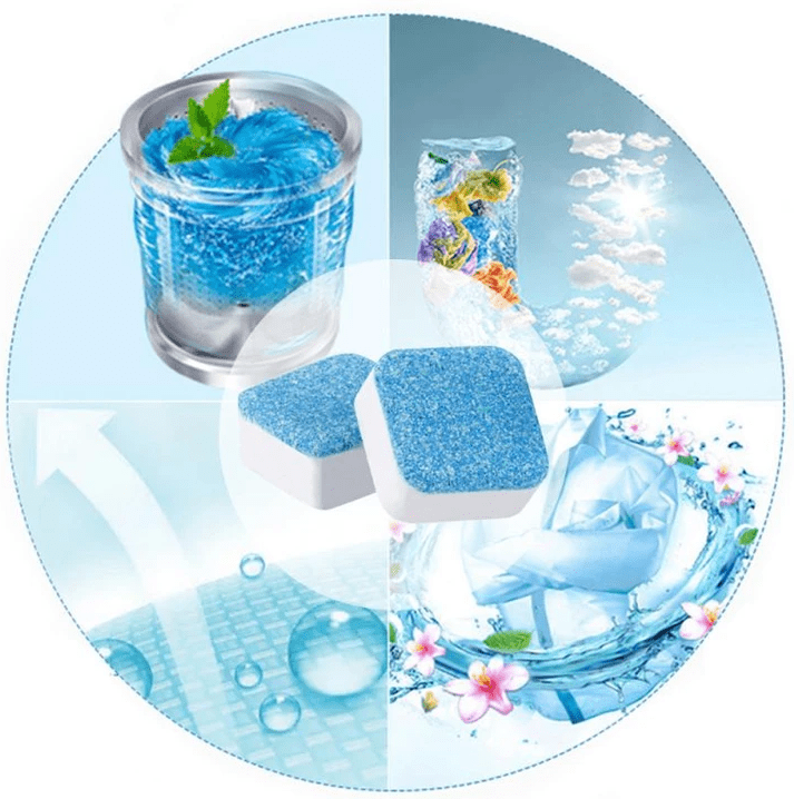 Washing Machine Deep Cleaning Tablets - Tab Cleaner Washer Detergent Effervescent Home - 5econds.co