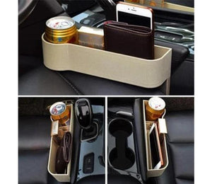 Multifunctional Car Seat Organizer - Storage Box Car Organizer Seat Gap PU Case Pocket Car Seat Side Slit for Wallet Phone Coins Cigarette Keys Cards For Universal - 5econds.co