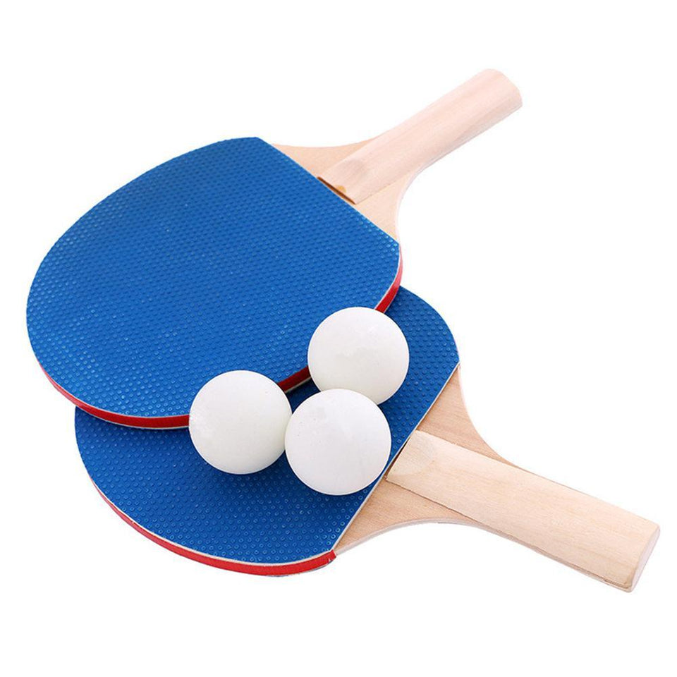 Retractable Table Tennis Set - Ping pong Bats Rackets Paddles Portable 3 Balls for Outdoor Easy Sporting Decoration - 5econds.co