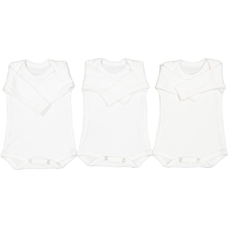 Long-Sleeve 3 Pack Cotton Bodyvest