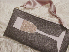 Load image into Gallery viewer, Champagne Glitter Clutch