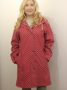 Junge Red Jacket with White Polka Dots