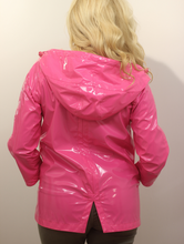 Load image into Gallery viewer, Bamboogie Patent Hot Pink Rain Jacket