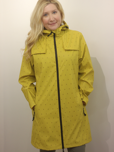 Junge Yellow Rain Jacket Drop Print