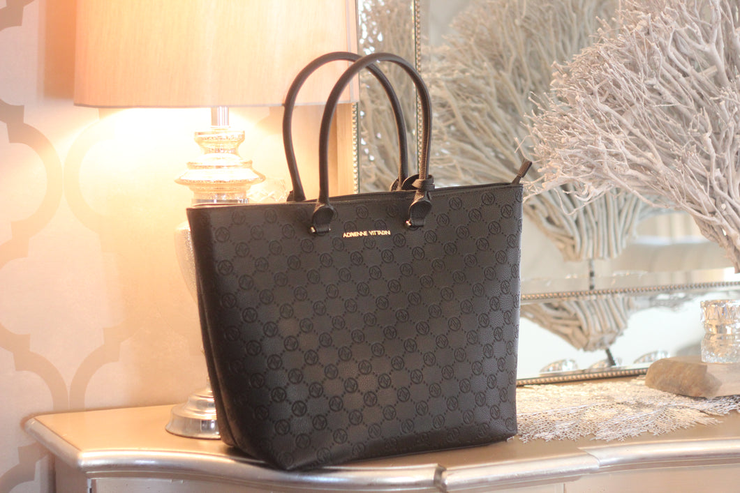 Adrienne Vittadini Large Black Tote Bag