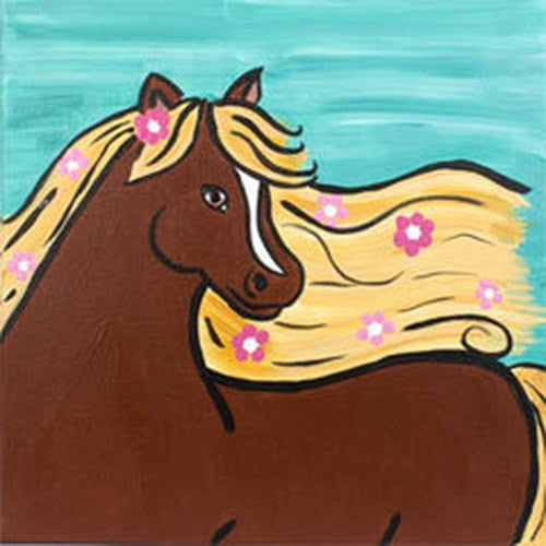 Floral Filly Kids Canvas
