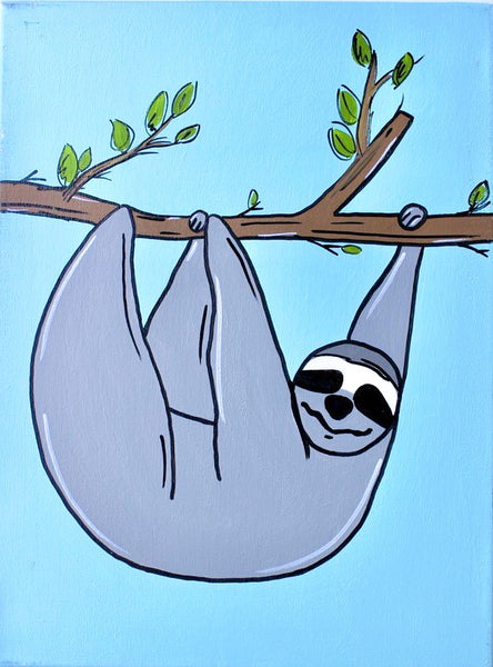 Sloth Kids Canvas