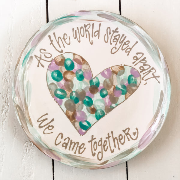 Family Fingerprint Heart Project w/ custom border and writing